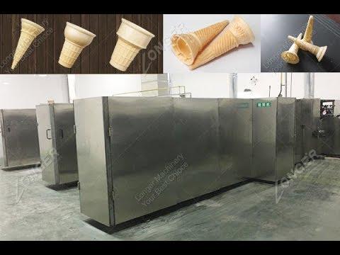 Ice cream cone making business wafer cone produtcion line factory