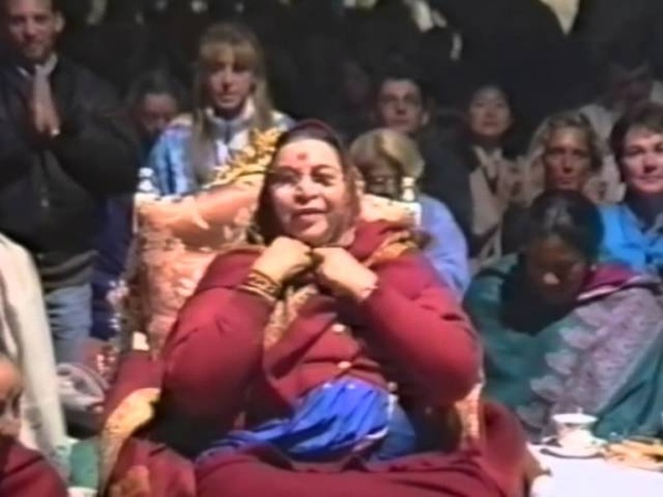 She's got the whole world in Her hands 1996 0830 Evening Program the day before Shri Krishna Puja C