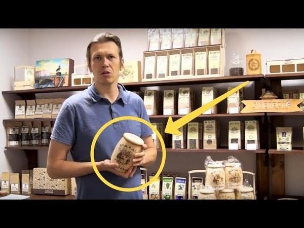 Бортевой мёд в кедровом бочонке. Сделано в Сибири.