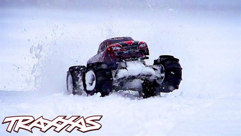 Paddle Tire Snow Shredding! | Traxxas Stampede 4X4 VXL