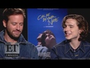 Armie Hammer Timothee Chalamet 'Call Me By Your Name' Interview