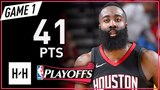 James Harden Full Game 1 Highlights Rockets vs Warriors 2018 NBA Playoffs WCF - 41 Points!