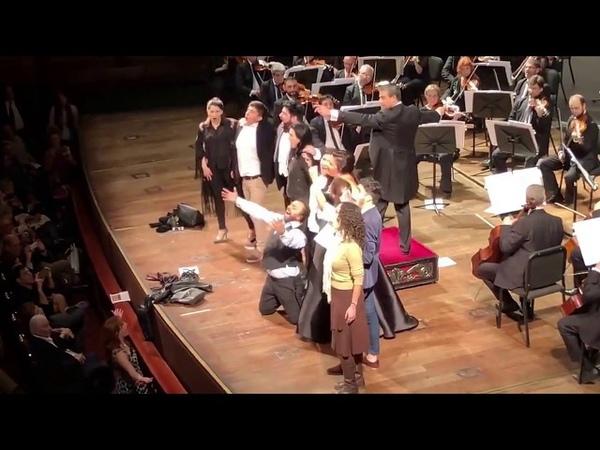 Netrebko Eyvazov O sole mio August 12 2018 Teatro Colón