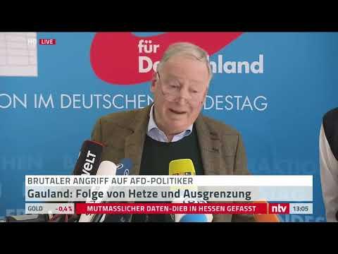 Live Statement Gauland zumAttentat auf AfD Politiker Magnitz