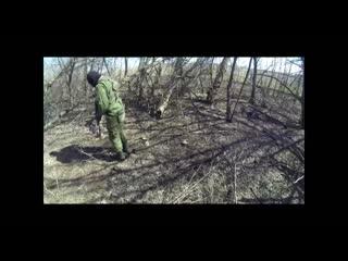 Подрыв на мине ополченца ДНР