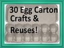 Egg Carton Craft Reuse Ideas!