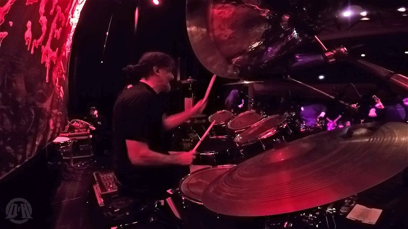 CANNIBAL CORPSE@Striped,Raped And Strangled-Paul Mazurkiewicz-live in Czech Republic 2018 (Drum Cam)