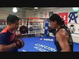 🎬Когда девушки в боксе не слабый пол🥊