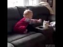 Малыши играют с кошками