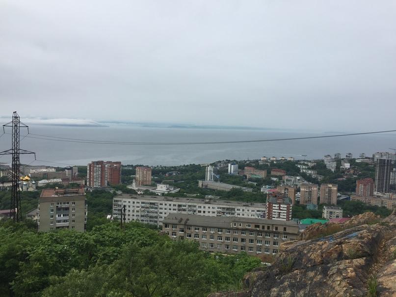 отчёт за 1.07.2018 Вид на Владивосток с высоты Орлиной сопки