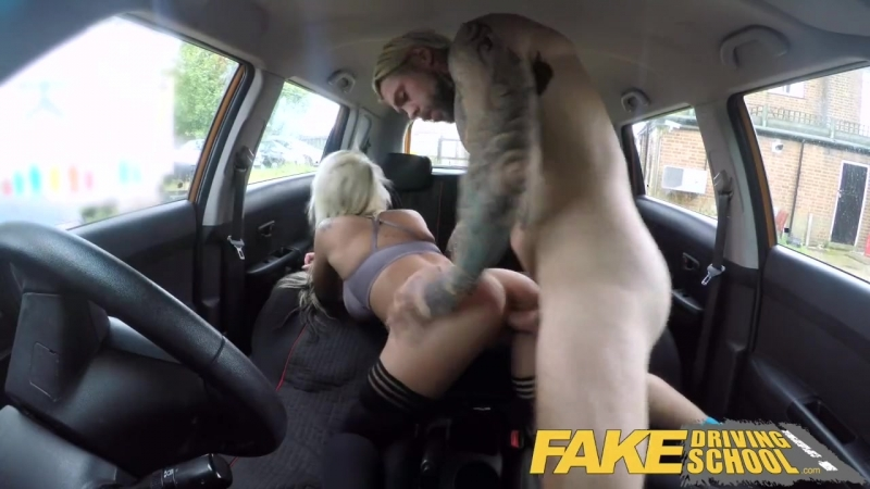 FAKE DRIVING SCHOOL BUSTY BLONDE BARBIE SINS WANTS LEARNERS CUM ON