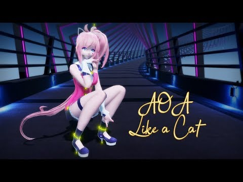 [MMD Commission] AOA - Like a Cat [Motion Trace]