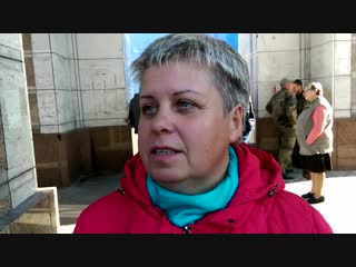 """"""" Хочу чтоб пришёл Путин и бомбил Быдло в Киеве ! """" - пенсионеры ждут Путина"""