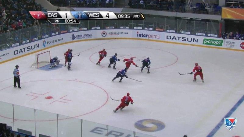 Моменты из матчей КХЛ сезона 14/15 • Гол. 2:4. Старченко Дмитрий (Восток) низом в дальний 13.02