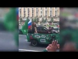 Meanwhile in Russia bear is celebrating the victory Russia - Saudi Arabia 5 - 0