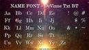 My favorite fonts Roman alphabet