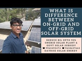 What is difference between on-grid and off-grid solar system