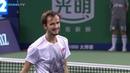Federer applauds Medvedev MIRACLE volley | Shanghai 2018