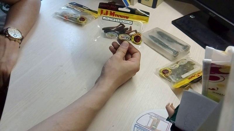 Видеообзор съедобной резины Lucky john (Rock crow, joco shaker, minnow) по заказу fMagazin
