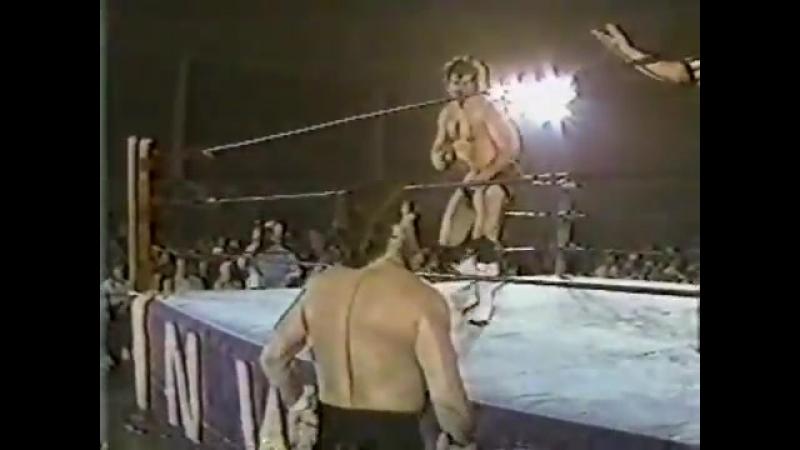 McDaniel Tully Blanchard vs Pez Whatley Brian Adidas Worldwide Aug 4th 1984