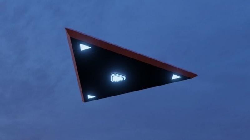 В небе Южной Кореи заметили треугольный НЛО