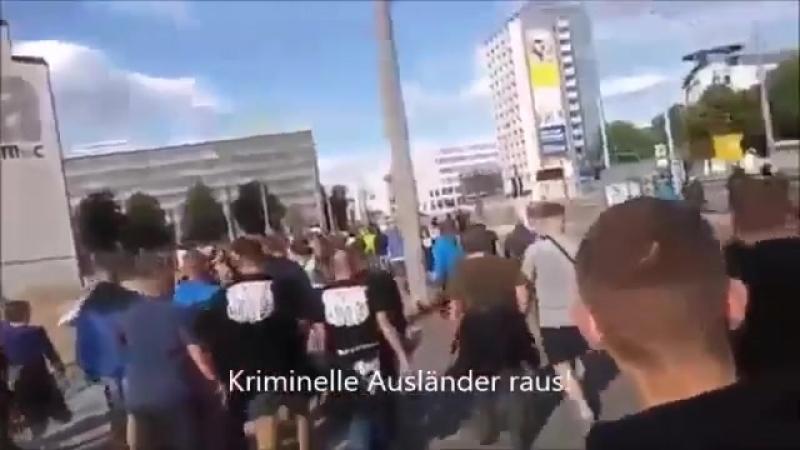 Menschenjagd in Chemnitz rechter Mob marschiert durch die Stadt