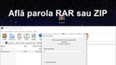 Găsirea parolei arhivelor RAR sau ZIP parolate