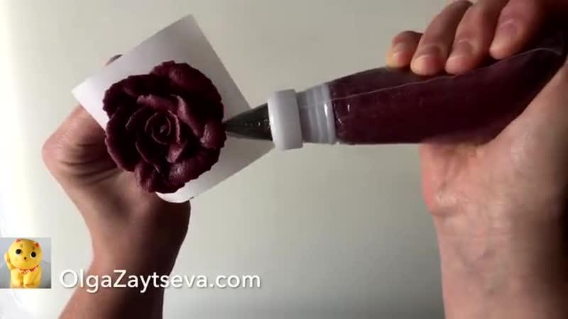 HOT CAKE TRENDS! Buttercream Harvest Time Flower Wreath Cake - How to make by Olga Zaytseva.mp4