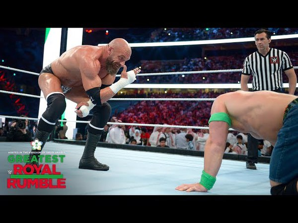 Triple H mocks the Cenation with You can't see me hand gesture Greatest Royal Rumble