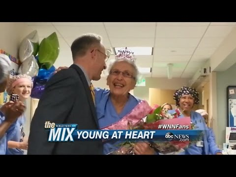 Oldest Working Nurse In The U.S. Turns 90