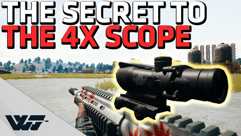 The SECRET to the 4X Scope - Hit moving targets EASILY - PUBG