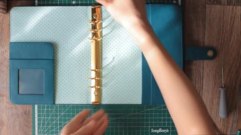 Как сделать планнер своими руками_ планнер на кольцевом механизме_DIY! Ежедневник своими руками!