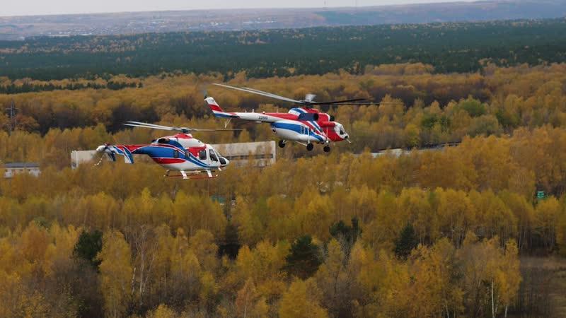 Тренировочные полеты Ми 171А2 и Ансат