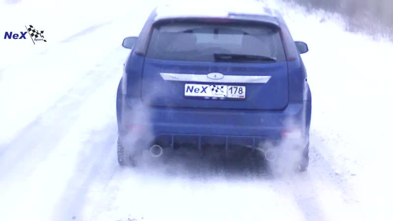 NeX® Ford Focus II Hatchback.ЭКСКЛЮЗИВ. Отвод раздвоенный Насадки ∅ 101 мм. Оптимум