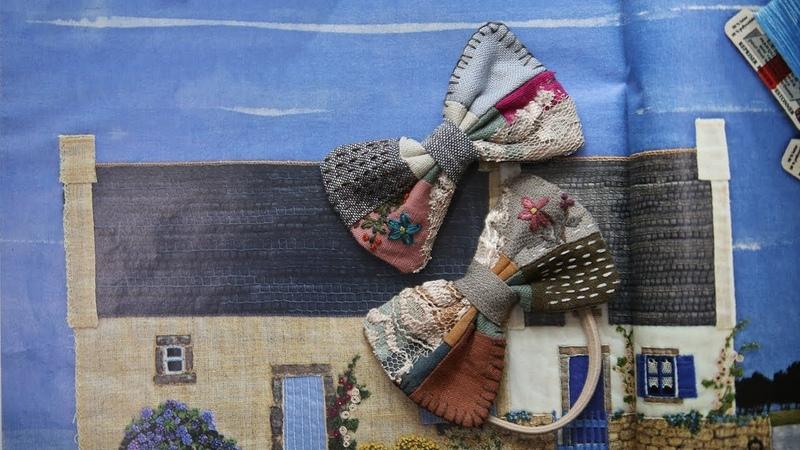 퀼트 자수 브로치 만들기 │Hand Quilt Embroidery│Fabric Butterfly Pin Brooch│DIY Craft Tutorial