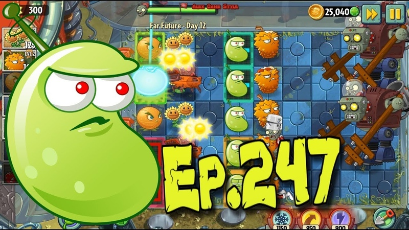 Plants vs. Zombies 2 || Citron and Laser Bean VS Gargantuar Prime - Far Future Day 12 (Ep.247)