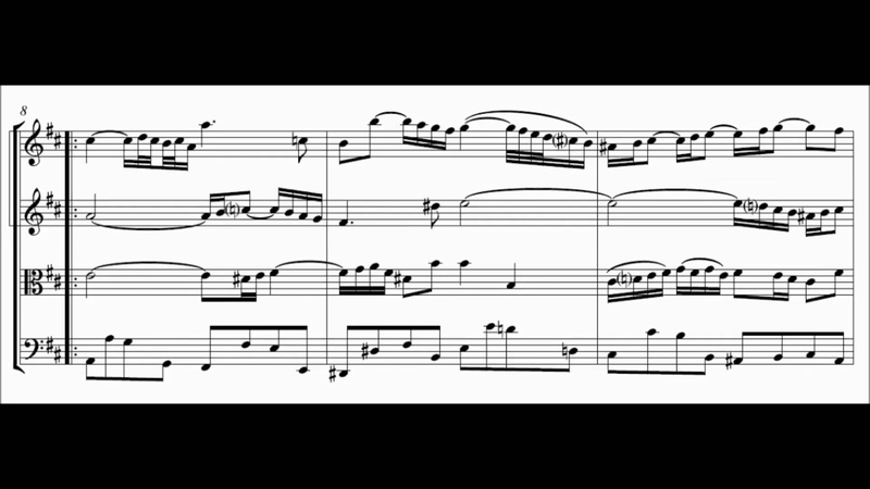 Air on the G string (Suite No. 3 in D - J.S. Bach) Score Animation
