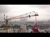 С видом на панораму Москвы: экстремал исполнил трюки на башенном кране