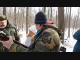 праздник 23 февраля в лесу