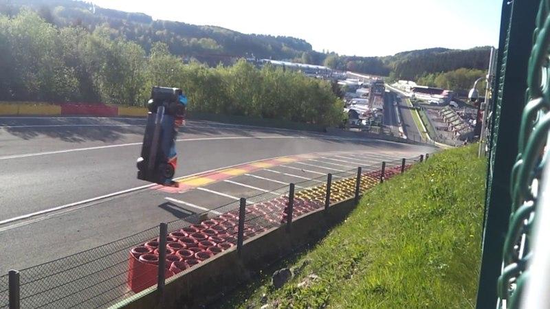 FIA WEC 2018 Spa Francorchamps Crash 17 BR Engineering BR1-AER Eau Rouge