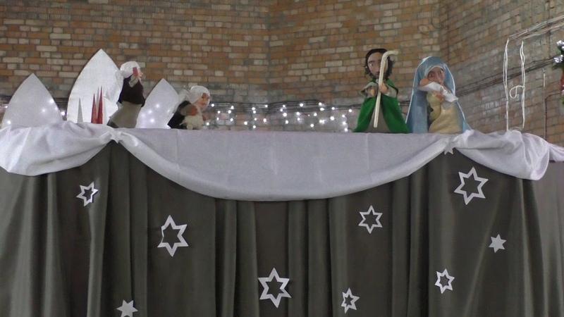 Лялечны спектакль з удзелам дзяцей нашай парафіі на Урачыстасць Нараджэння пана. 2014 год.