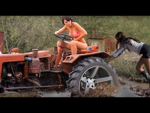 ТОП подборка девушек За рулем на сельхозтехникеЭто надо видеть