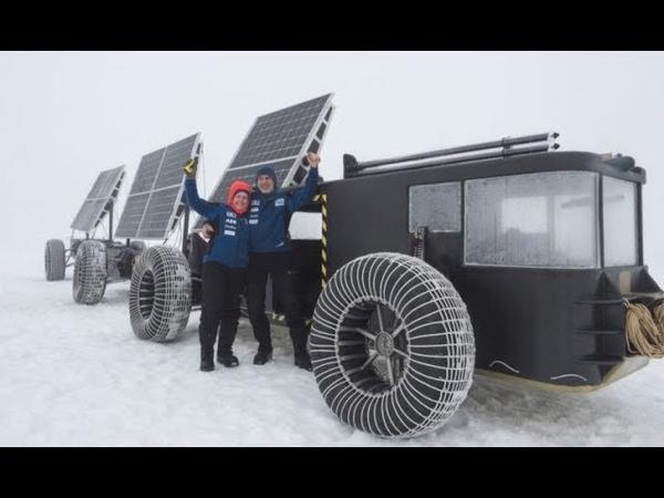 Veículo movido a energia solar feito em impressora 3D no Pólo Sul