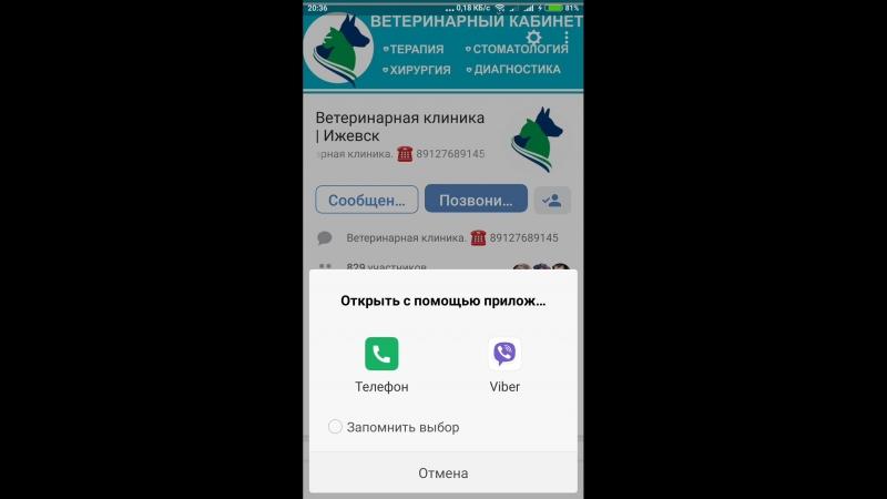ВКонтакте доступна функция позвонить.