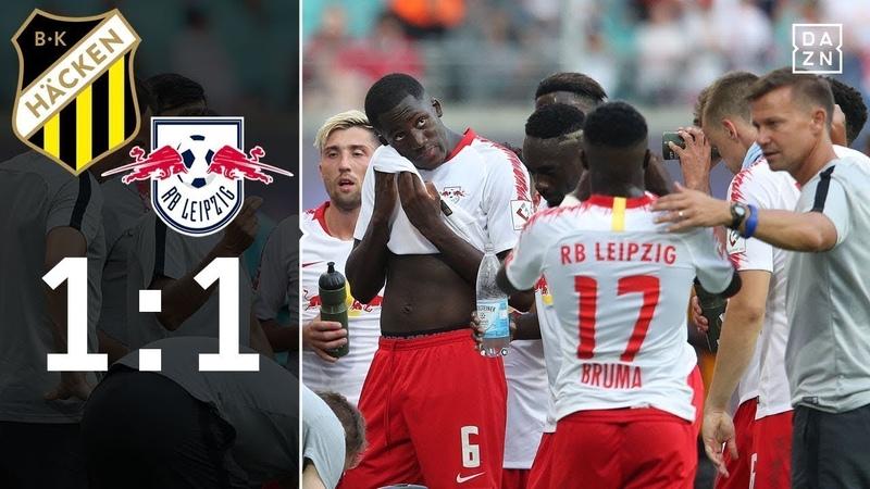 Rote bullen patzen riesig in runde 3/ Häcken 1:1 RB Leipzig/europapokal/DAZN/Highlights/FootballTV