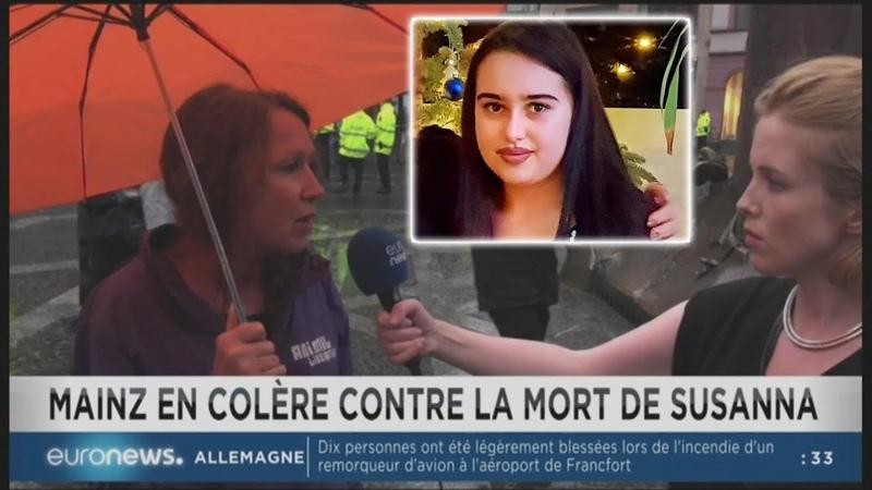 Allemagne : Colère après le viol meurtre d'une ado par un migrant (Euronews,12/06/18,11h33)