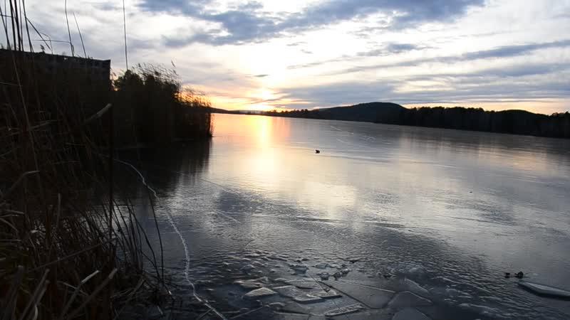 лёд на реке Миасс