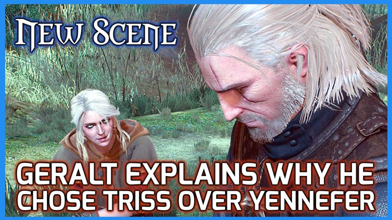 Witcher 3 New Scene ► Geralt Explains to Ciri why he Chose Triss over Yennefer, patch 1.10