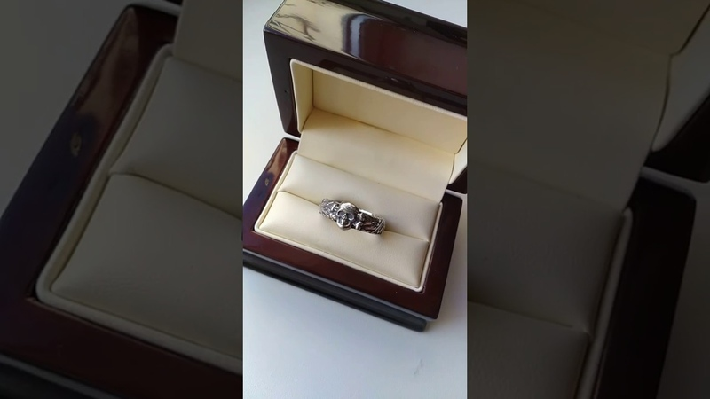 The silver ring Waffen-SS Totenkopf 3rd Reich Germany