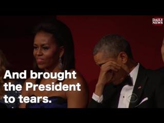 Aretha Franklin brings President Obama to tears